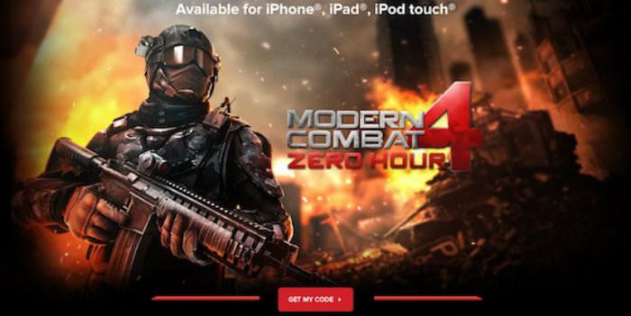 Game bắn súng hành động Modern Combat 4: Zero Hour cho iOS